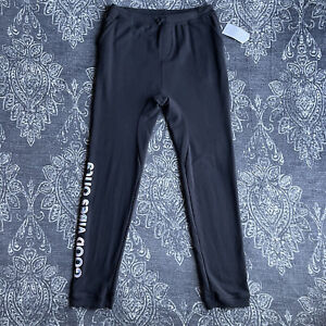 Spiritual Gangster Good Vibes Only Sweatpants Girl's Size 14 Black