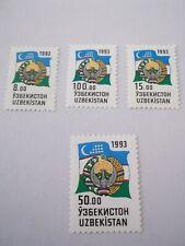 1993 Uzbekistan Arms & Flags m/m Mi.30/3, C7