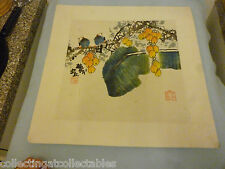 Chinese Ink Wash Painting Signed with artist Seal  Two Birds