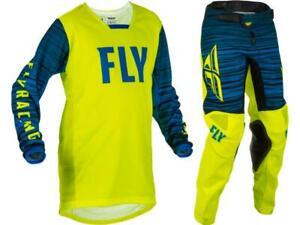 Fly Racing Youth Kinetic Jersey & Pant Combo Set MX/ATV/BMX Kids Riding Gear '22