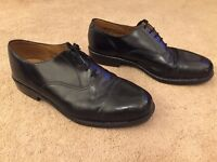 Men's Black Lace Up Smart Shoes Uk Size 11