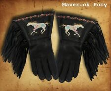 Handmade Hand Painted Supple Deer Skin Gauntlet Gloves 10 Styles to Choose From