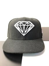 Diamond Supply Fitted Cap Hat Size 7 1/8 Black