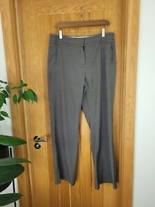 Marks & Spencer M&S 14 Long Brown Pin Check Trousers. Belt loops.