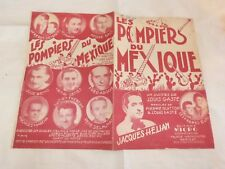HELIAN & LES FRERES ELOI - Partition LES POMPIERS DU MEXIQUE !!!