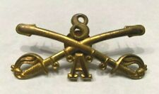 Original US Army Enlisted Hat Cavalry Brass Insignia 8th Cavalry, A Troop