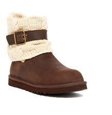 de4379b624f UGG Australia Leather Upper Knitted Boots for Women | eBay