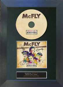 MCFLY Memory Lane Album Signed CD Mounted Reproduction Autograph Prints A4 18