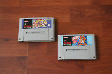 STREET FIGHTER II TURBO AND BUBSY FOR THE NINTENDO SNES CONSOLE.