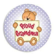 Proud Grandma Button Pin ~ New Baby Gift ~ Birth Announcement Pins Keepsake