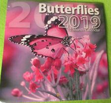 """2019 ButterFlies MONTHLY MINI 6X6"""" WALL Hanging Calendar -16-Month   Bachmann"""
