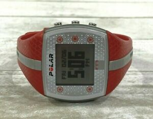 Polar FT7 Digital Sports Heart Rate Monitor Watch Red Gray New Battery
