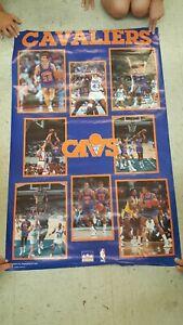 VTG 1989 NBA Starline Cleveland Cavaliers Poster Price Nance Daugherty Harper