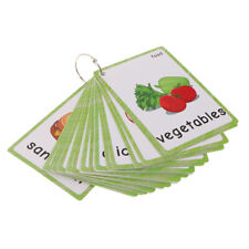 MagiDeal 35pcs Food English Picture Words Flash Cards Kids Learning Tools