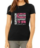 Bella Canvas Survivor #2 Shirt Pink Ribbon Breast Cancer Awareness Tee Fighter