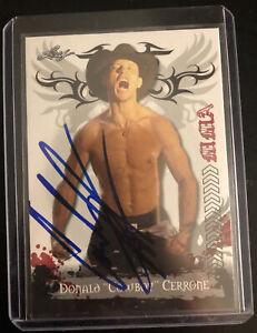 Donald Cowboy Cerrone Signed Card  Leaf MMA UFC WEC Rookie on card Mcgregor