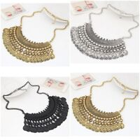 Vintage Ethnic Gypsy Bohemian Tribal Coin Statement Necklace Pendant Partys