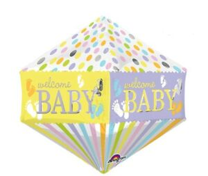"""21"""" Welcome Baby Ultra Shape Anglez Mylar Foil Balloon Baby Shower Party"""