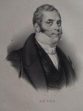 AUBER , PORTRAIT, LITHOGRAPHIE 1840 DELPECH