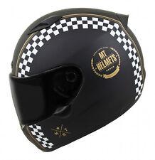MT Matrix Cafe Racer Motorcycle Helmet Matt Black Motorbike Crash Lid Scooter