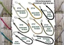 Curtain Rope Tie backs x 2 pieces (choose from 15 Colours)