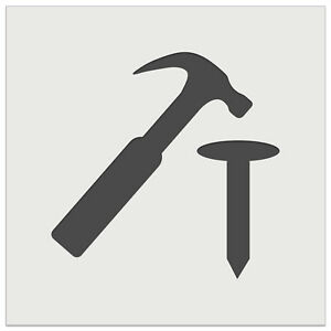 Hammer and Nail Construction Wall Cookie DIY Craft Reusable Stencil