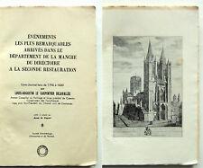 COUTANCES Cotentin / Journal 1796-1820/ LE CARPENTIER DELAVALLÉE Dpt Manche 1938