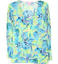 NEW NWOT LILLY PULITZER Liesel Sweater Pullover Top XS Linen Teal Turquoise