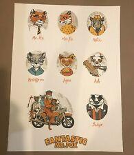 """mondo artist Tyler Stout """"Fantastic Mr Fox"""" Uncut Handbill Poster print bng"""