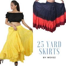 Wevez teatral tribal combinación de danza del vientre falda de algodón colombiana 25 yarda