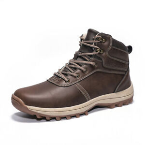 Mens High Top Outdoor Hiking Sneakers Boots Shoes Climbing Sports Non-slip Flats