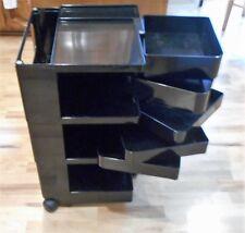 Vintage Mid Century BOBY CART Trolley-Black-Cosmetic-Mobil Organizer Art Cabinet