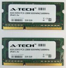 A-TECH 8GB (2x4GB) DDR3 PC3-12800 1600 MHz (2012 Mac Mini) MacBook Pro RAM Kit