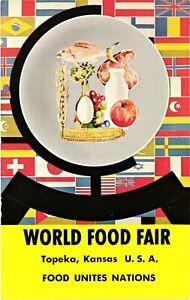 Vintage Postcard - World Food Fair Topeka Kansas USA Food Unites Nations #5710