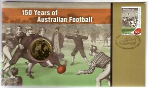 2008 PNC Australia. 150 years Australian Football. Includes $1 UNC coin.