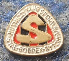 STAL BOBREK BYTOM POLAND BASKETBALL CLUB 1980's BIG PIN BADGE