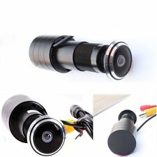 Hidden Mini 170 Wide Angle CCD Wired Door Hole Peephole Video Camera CCTV Cam