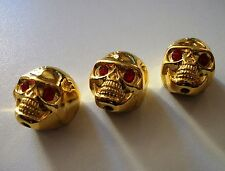 NEW 3 KNOBS METAL SKULL gold - bouton pour guitare