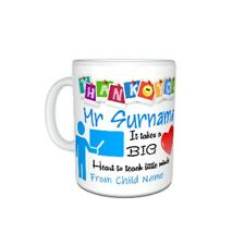 Personalised Thank You Teacher Mr, Themed Mug Gift, Size 11oz