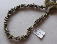 """8"""" Strand Pyrite Gemstone Small Rough Nugget Chip Beads 6mm-8mm"""