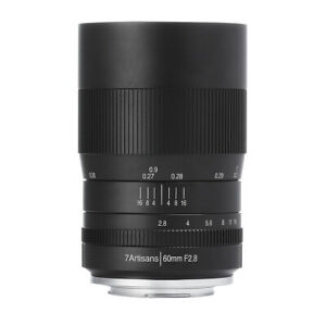 7artisans 60mm F2. 8 APS-C Magnification Macro Camera Lens for Sony a6000 a6400