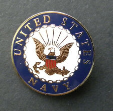 US NAVY USN ROUND LAPEL PIN BADGE 1 INCH