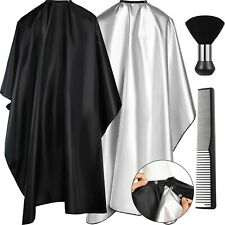 4 Pieces Barber Salon Cape Set Includes Hair Cutting Styling Hairdressing Cap...