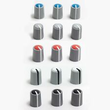 Nos Peavey Audio Knob Pair For Pro-Audio Mixers Red Blue Grey Black White