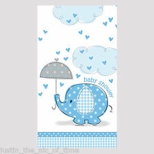 BLUE UMBRELLAPHANTS Baby Shower Boy Tableware Decorations Plastic TABLECOVER