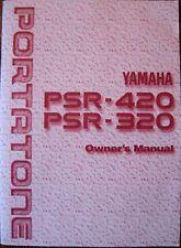 Yamaha PSR-420 PSR-320 Portatone Digital Keyboard Original Owner's Manual Book