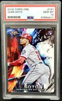 2018 Topps Fire Nationals RC Star JUAN SOTO Rookie Card PSA 10 GEM MINT Pop 71