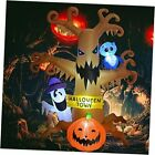 8 FT Halloween Inflatables Outdoor Dead Tree with White Ghost, Pumpkin and