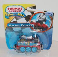 RACING THOMAS - DIECAST Train Engine - Take n Play Thomas & Friends - NIP - 2015