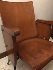 sedia da cinema vintage d'epoca in legno